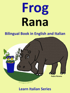 bilingual book english italian frog image