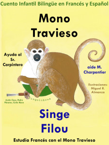 Cuento Bilingüe español frances Mono Travieso